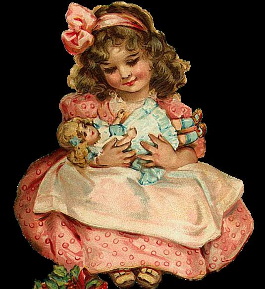 Спокойной, открытка с куклой для девочки