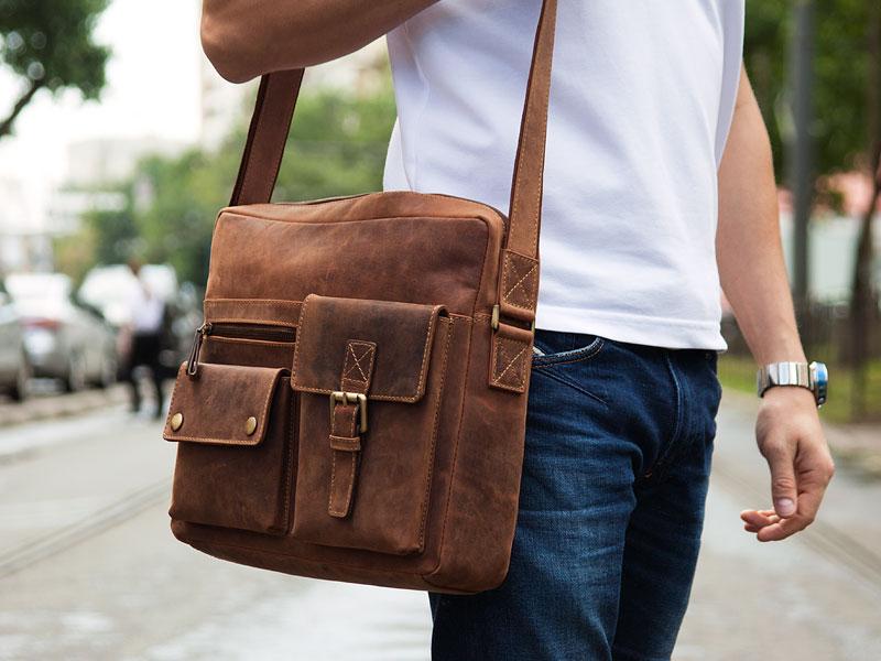Основные виды и критерии выбора мужских коричневых сумок