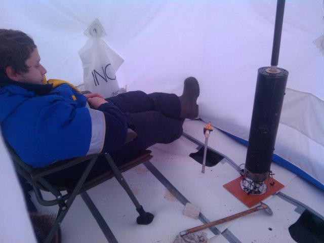 Печка в зимнюю палатку своими руками