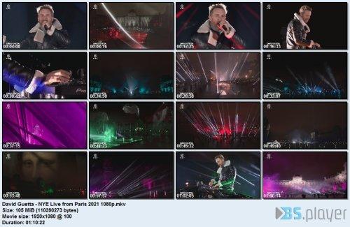 David Guetta - NYE Live in Paris (2021) HDTV