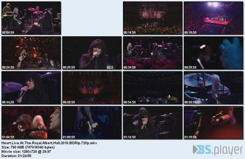 heartliveattheroyalalberthall2016bdrip - Heart - Live At The Royal Albert Hall (2016) [BDRip 720p]