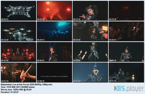 Babymetal - Live at The Forum (2020) Blu-Ray