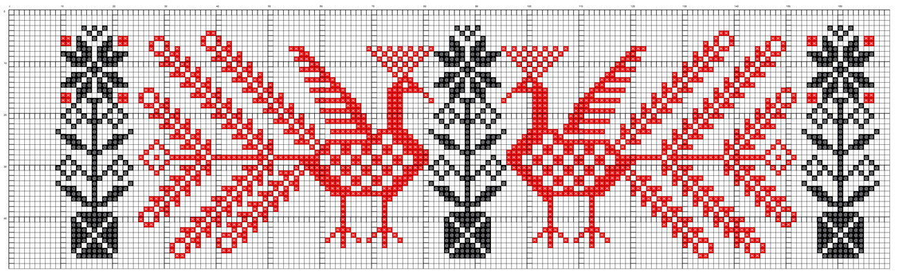 Схема удмуртской вышивки