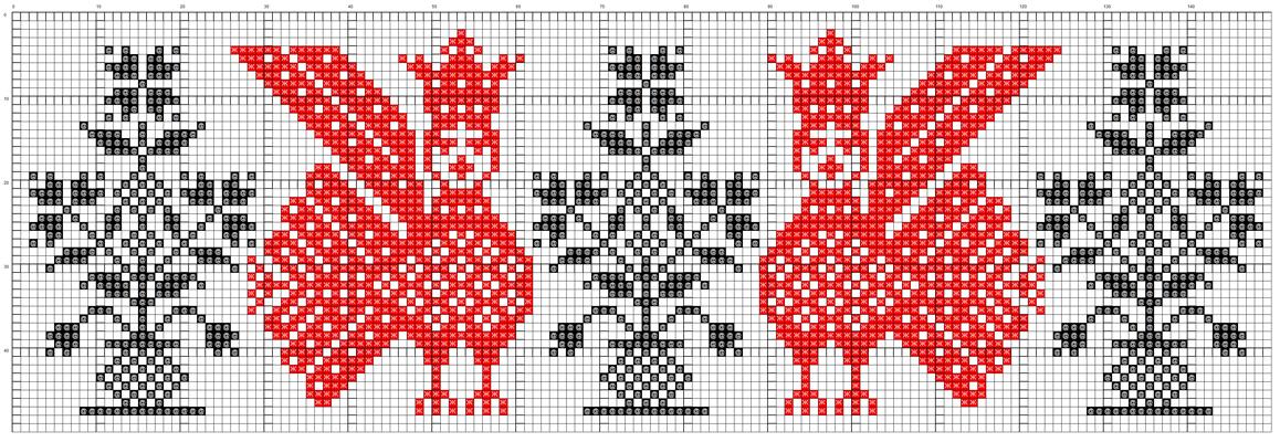 Русские вышивки на полотенцах схема