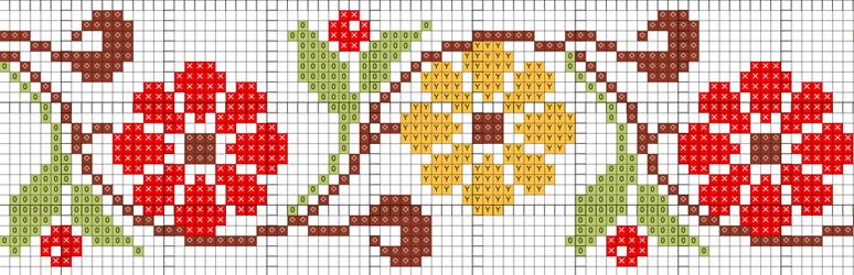 Схема узора вышивания крестиком