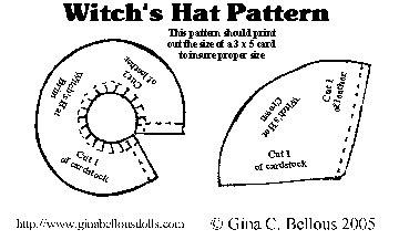 Шляпа ведьмы из бумаги своими руками 378