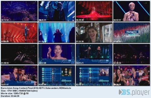 eurovisionsongcontestfinal2018hdtvgalexanders - Eurovision Song Contest - Final (2018) [HDTV 720p]