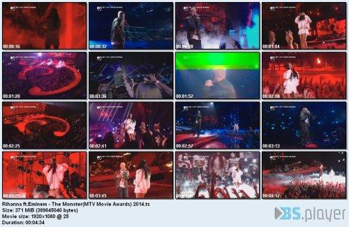 Eminem ft.Rihanna - The Monster(MTV Movie Awards) (2014) HDTV